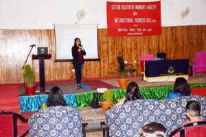 Talk on Women's Mental health at BSF Headquarters, Koochbehar, West Bengal